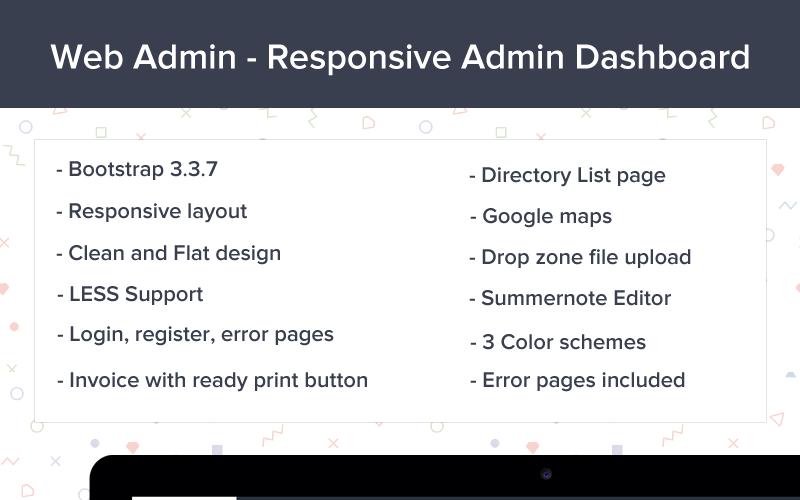 Webadmin - Responsive Dashboard Admin Template