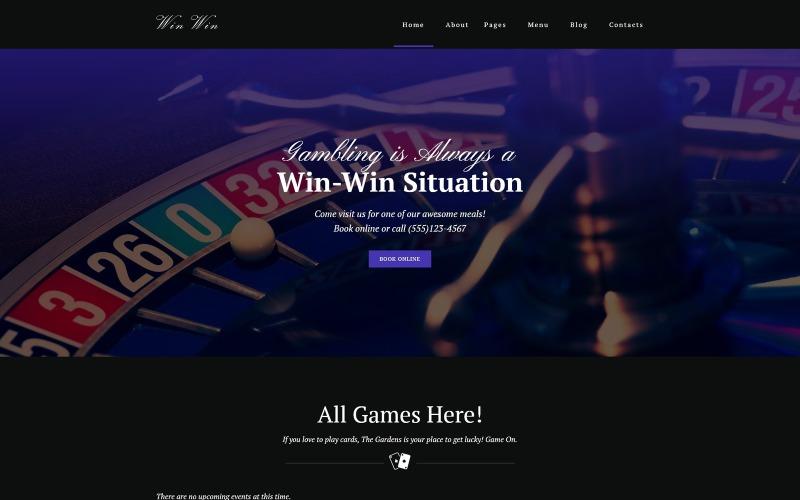 WinWin - Casino Website WordPress-thema
