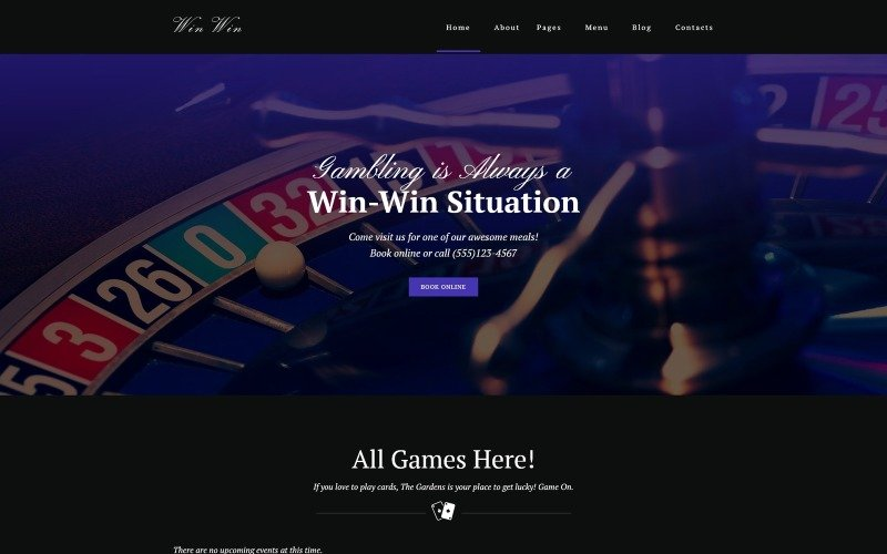 WinWin - Casino Website WordPress theme