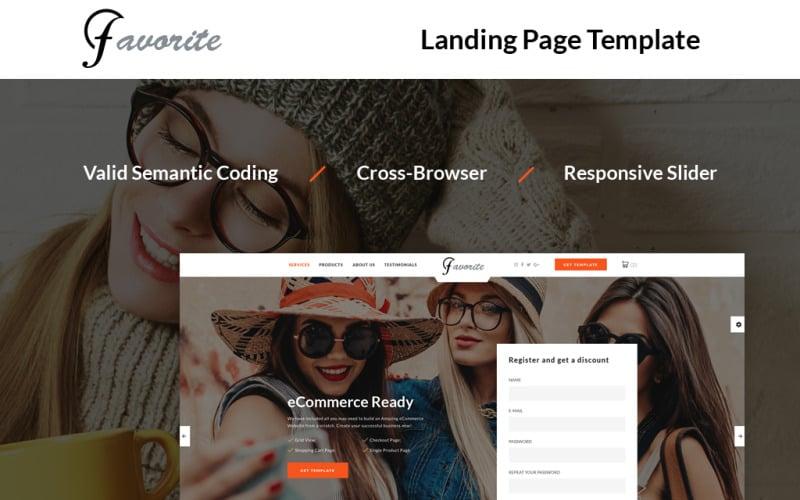 Favorite - Shop Landing Page Template