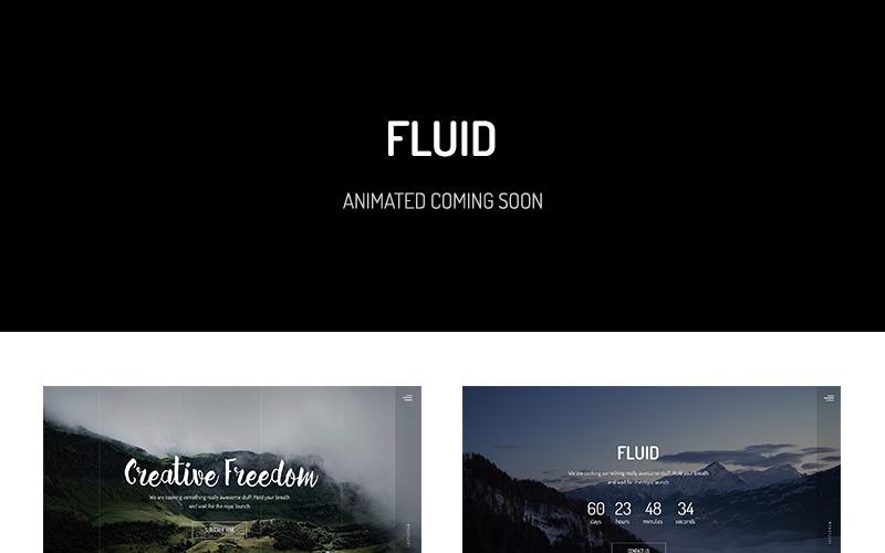 Fluid - Plantilla animada para sitio web Próximamente