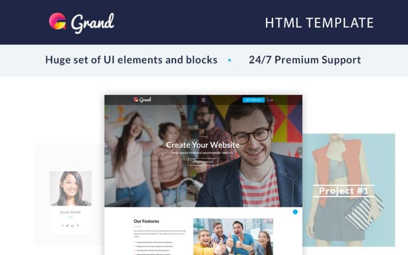 Grand-代理商登陆页面模板