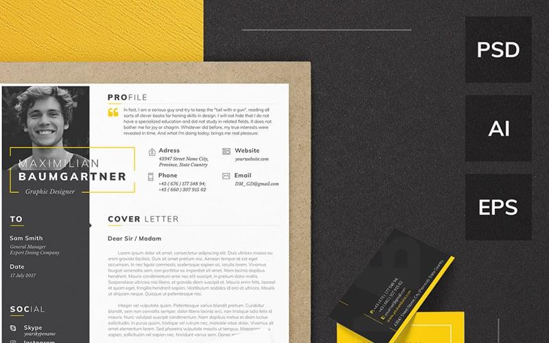 Maximilian Baumgartner Graphic Designer Resume Template 64870