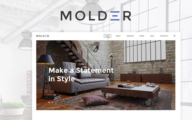 Molder - Modèle de site Web de design d'intérieur