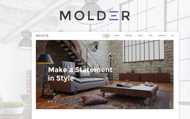 Molder - Website-Vorlage für Innenarchitektur