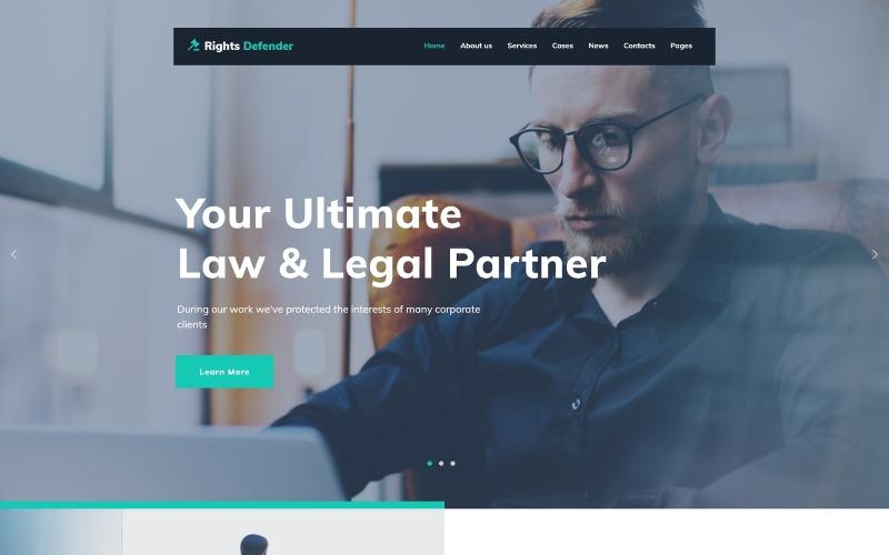 Rights Defender - WordPress téma právníka