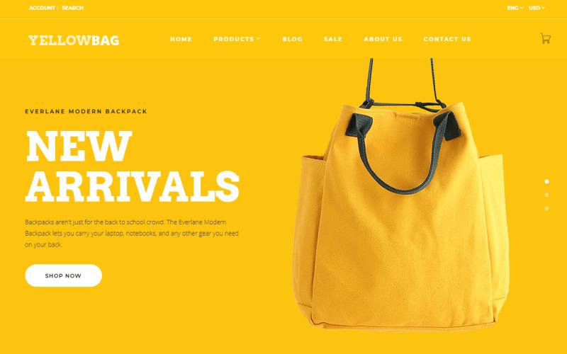 Шаблон OpenCart YellowBag