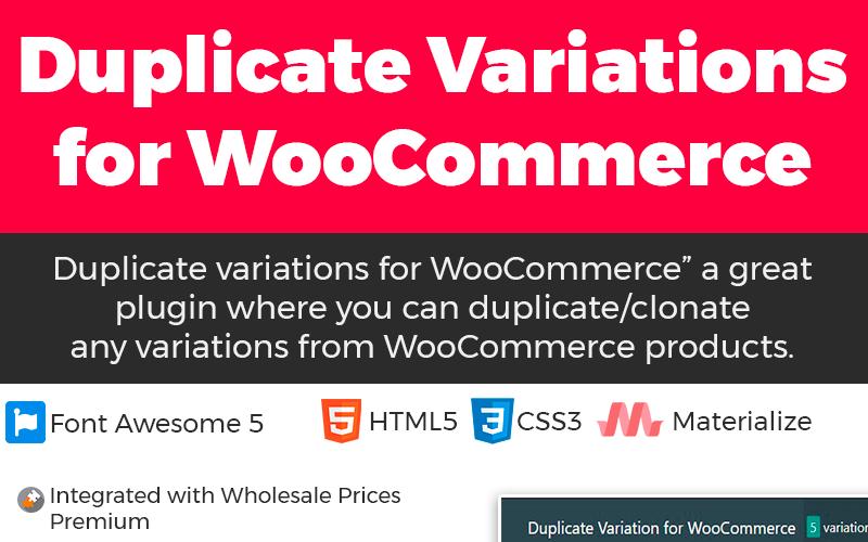 Variation en double pour le plugin WordPress WooCommerce