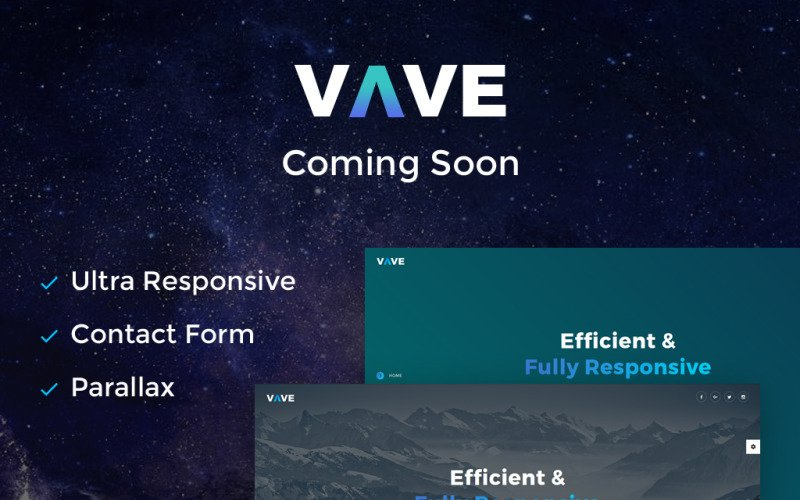 VAVE - Coming Soon HTML5 Specialty Page