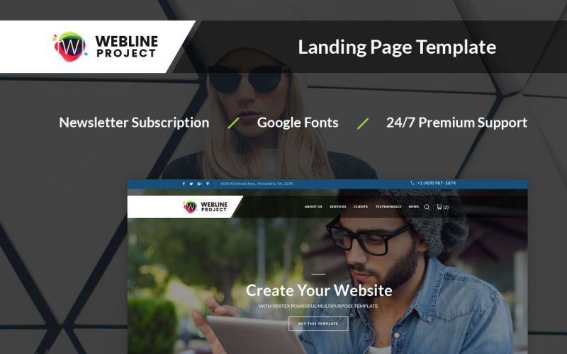 Webline Project - Corporate Landing Page Template