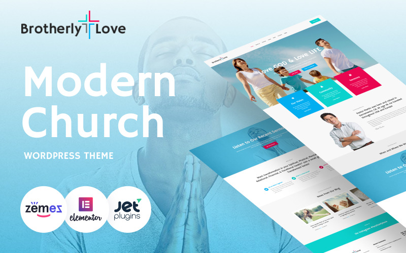 BrotherlyLove - Modern Church WordPress-thema