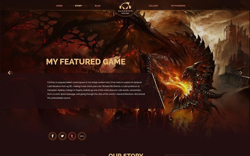 Gamepro - Fantastic Blog  for GAME SITES PSD Template