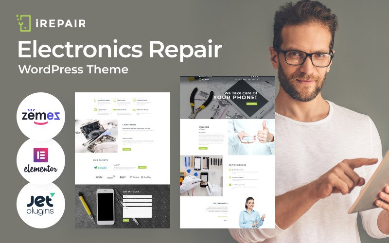 iRepair - Electronics Repair WordPress Theme