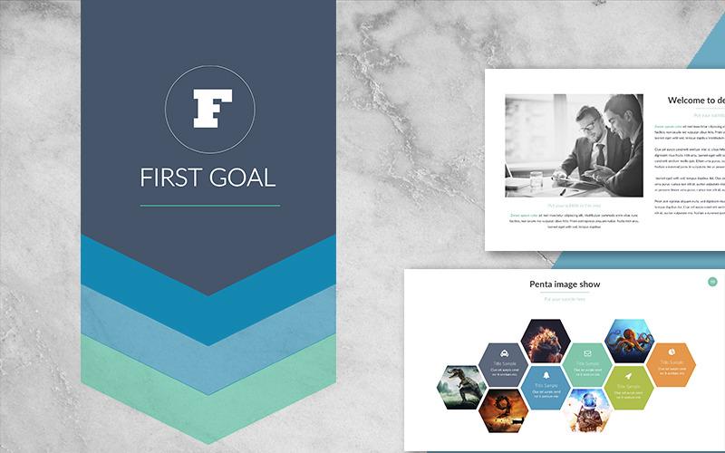 První cíl PowerPoint šablony