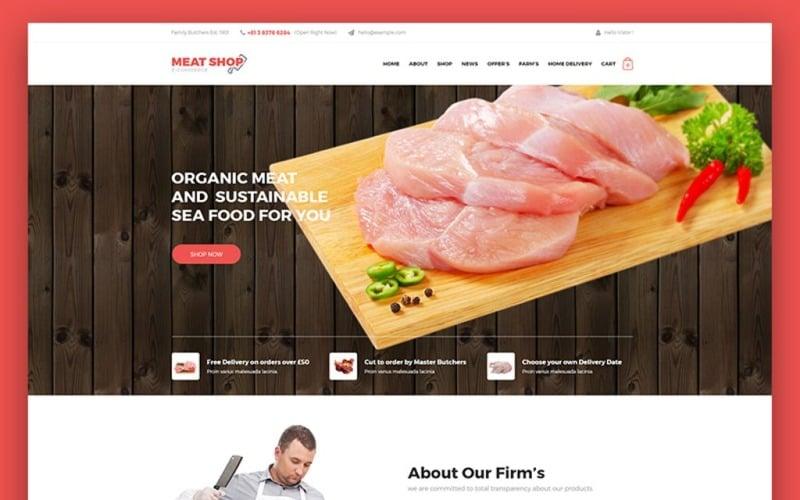 Meat Shop eCommerce Website Template