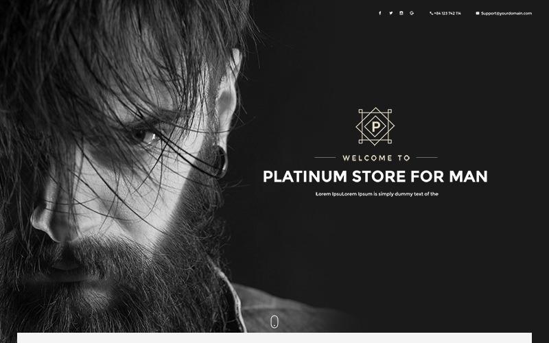 Platinum - modelo elegante de comércio eletrônico para modelo PSD de moda
