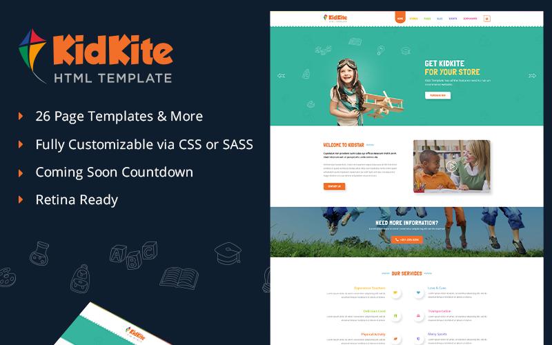 School Daycare for Kids & Children Ecommerce Website Template