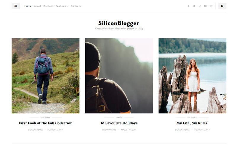 SiliconBlogger - Чистый личный блог, посвященный удобочитаемости WordPress Theme
