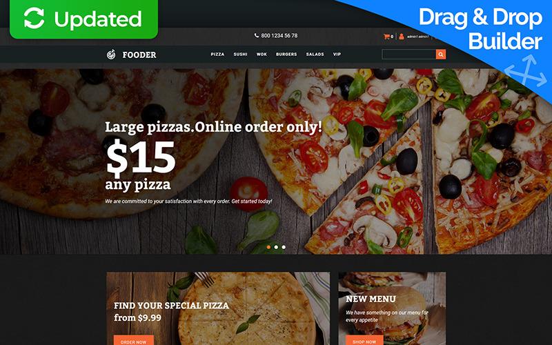 Fooder - Pizza Restaurant MotoCMS Ecommerce Template