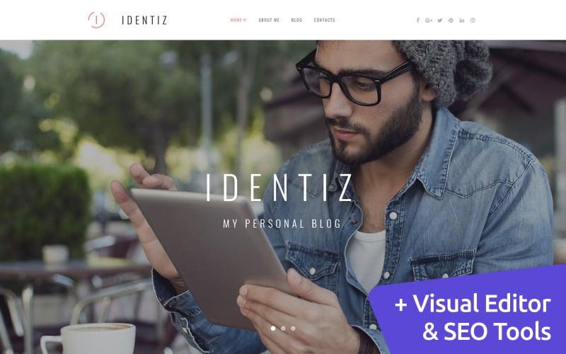 Identiz - Personal Portfolio Moto CMS 3 Template