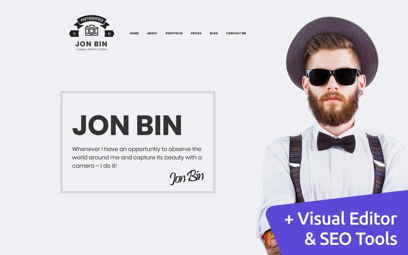 Jon Bin - Freelancer Photographer Portfolio Moto CMS 3 Template