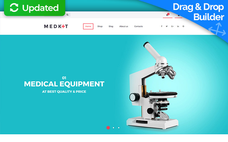 Med Kit - Medical Equipment MotoCMS Ecommerce Template