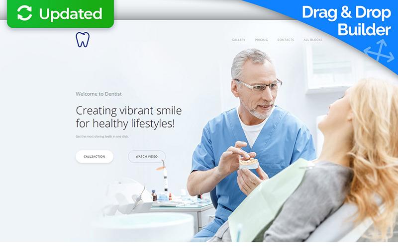 Skyline - Modelo de página de destino do Dentist MotoCMS 3