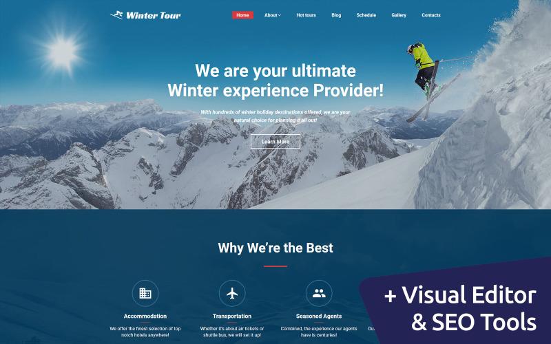 WinterTour - Beste Reisebüro Moto CMS 3 Vorlage