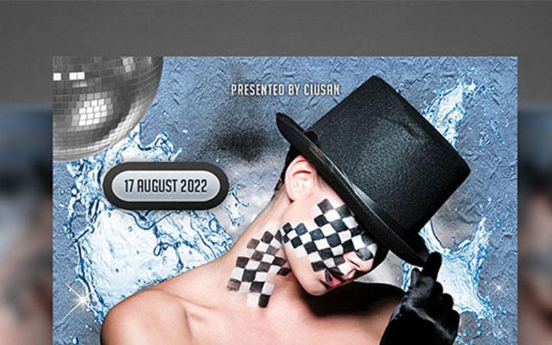 Modelo PSD de folheto do Art Fest
