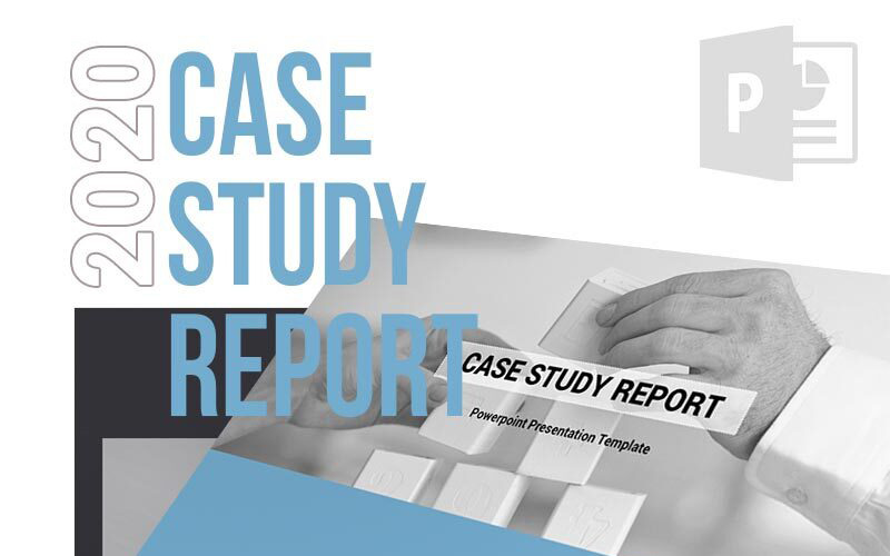 2020 Case Study Report Powerpoint Template 65153