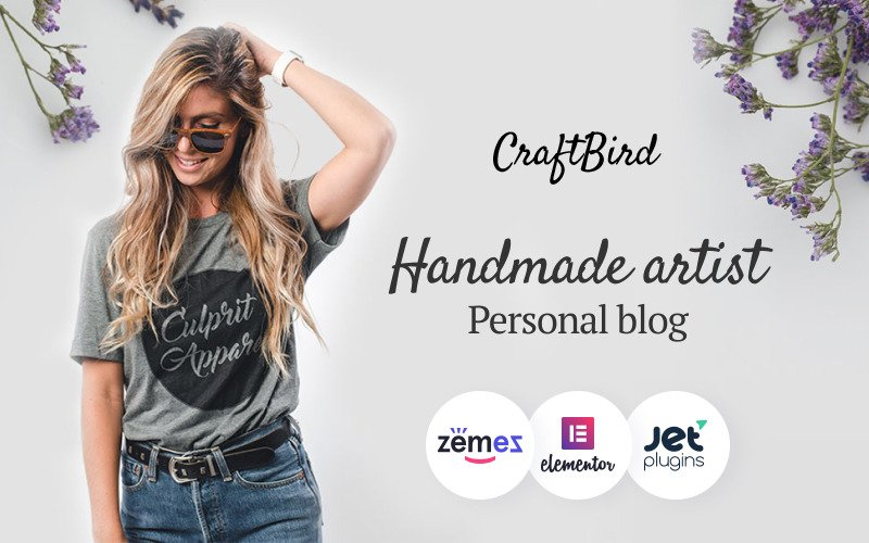 CraftBird - Handmade Artist Personal Blog WordPress-thema