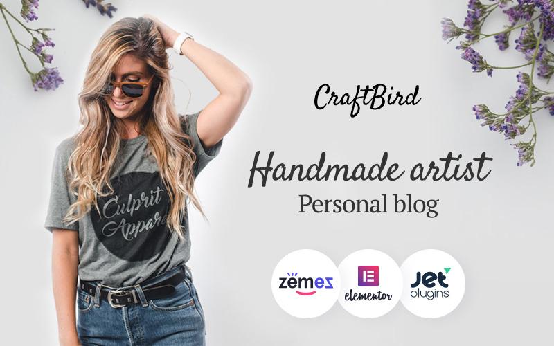 CraftBird - motyw WordPress na osobistym blogu ręcznie robionym artysty