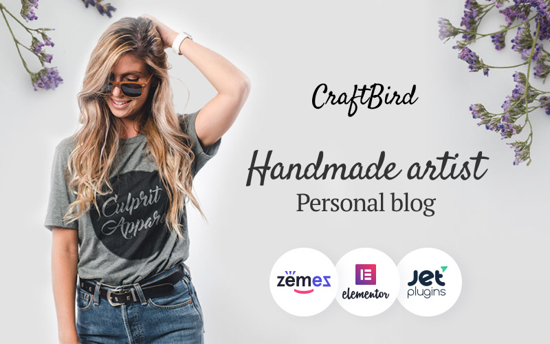 CraftBird - тема WordPress для личного блога художника ручной работы