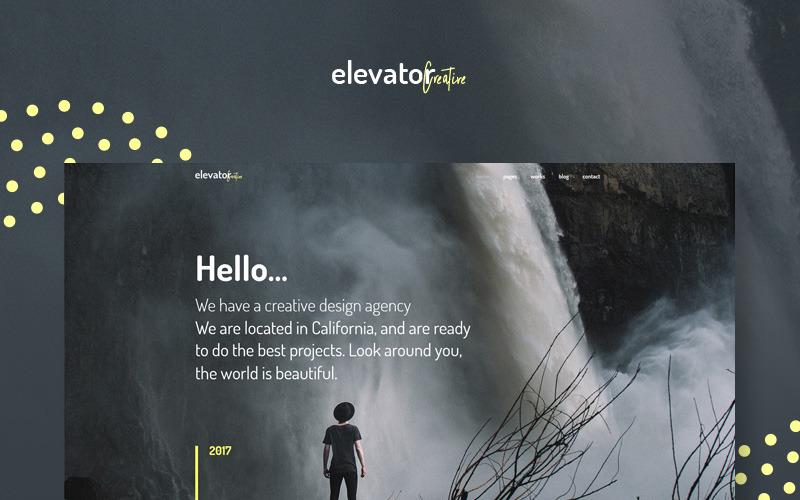 Elevator - тема WordPress для творческого корпоративного портфолио