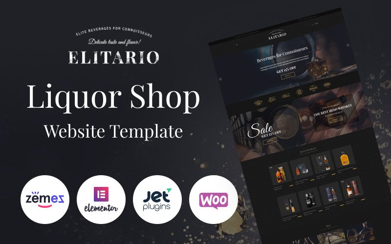 Elitario - Liquor Store WooCommerce Theme