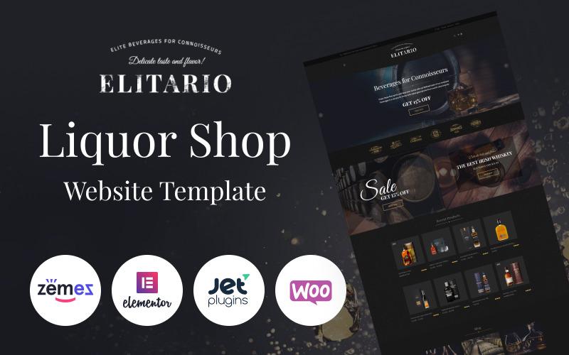 Elitario - тема WooCommerce для магазина спиртных напитков