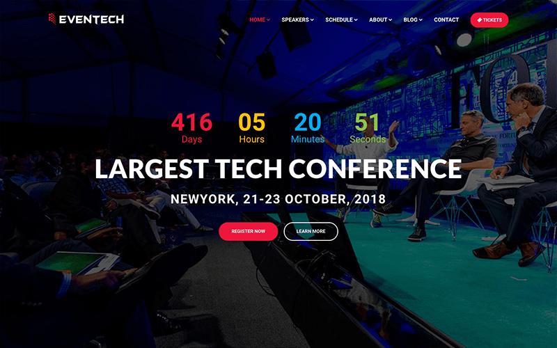 Eventech - Conference Event Website Template