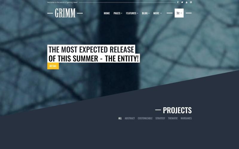 GRIMM - Game Development Studio WordPress teması