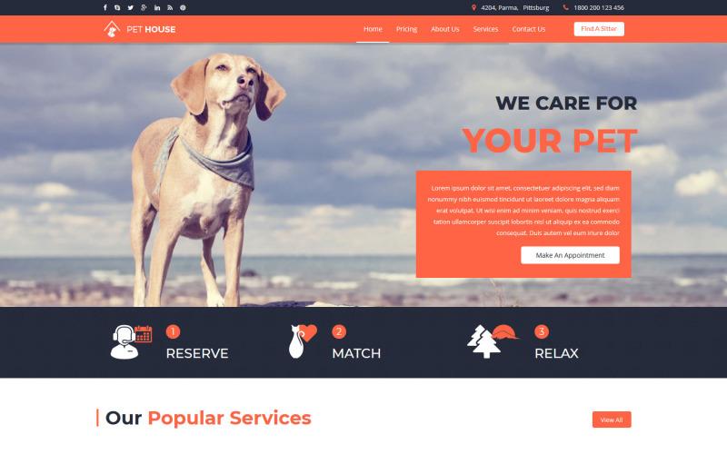 Pet House - Pet Care Service Joomla Template
