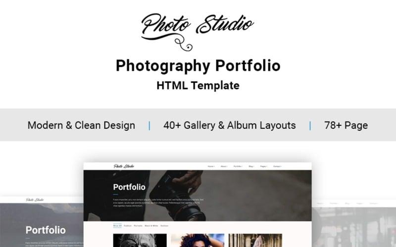 Photo Studio -  Photo Portfolio Creative Website Template