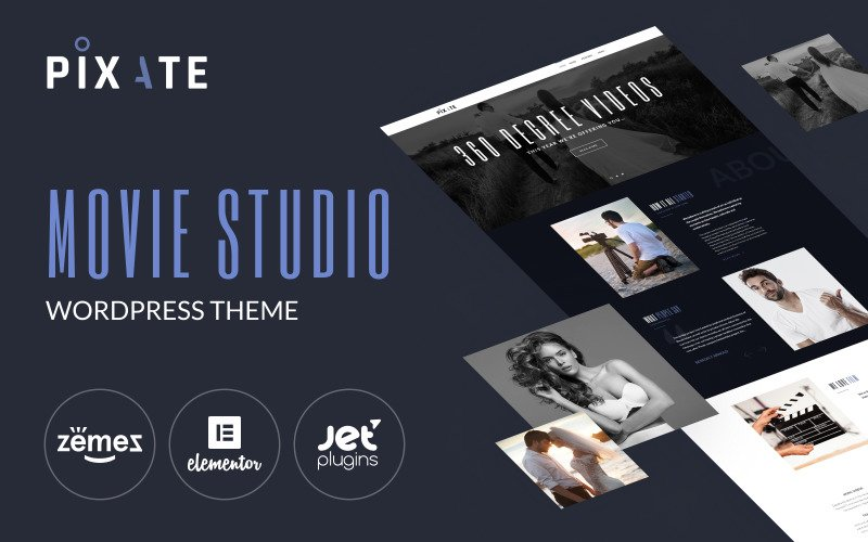 Pixate - Tema WordPress do Movie Studio