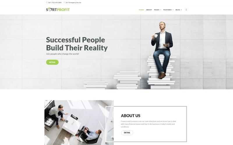 SortProfit - Üzlet és pénzügy WordPress téma