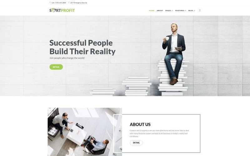 SortProfit - WordPress-Theme für Unternehmen und Finanzen