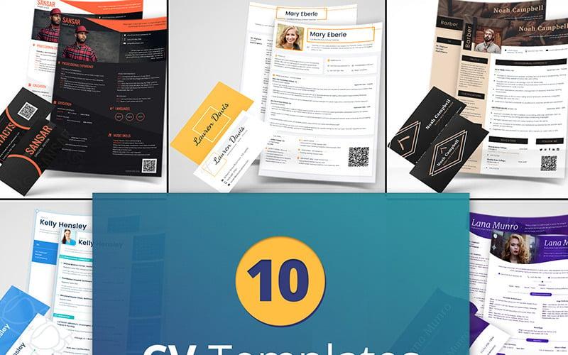 10 Best Professional CV and Resume Templates Bundle