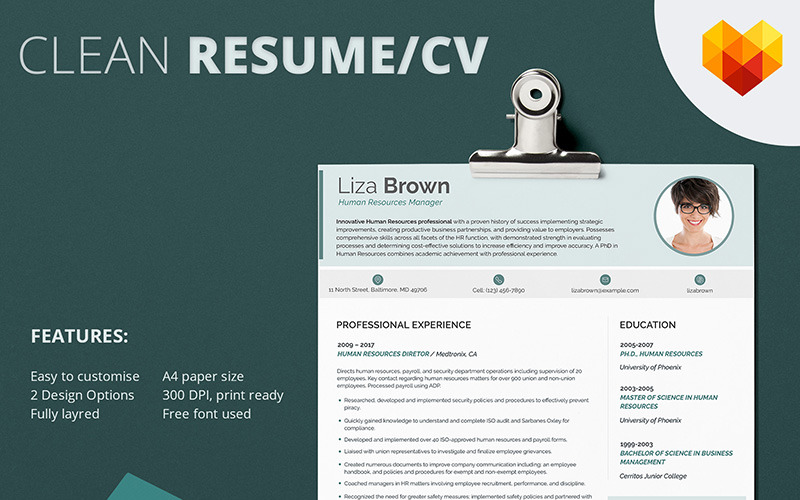 Liza Brown - Modèle de CV de responsable des ressources humaines