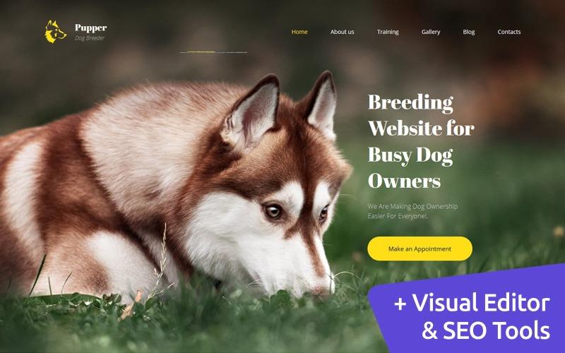 Pupper - Modèle Premium Moto CMS 3 pour éleveur de chiens