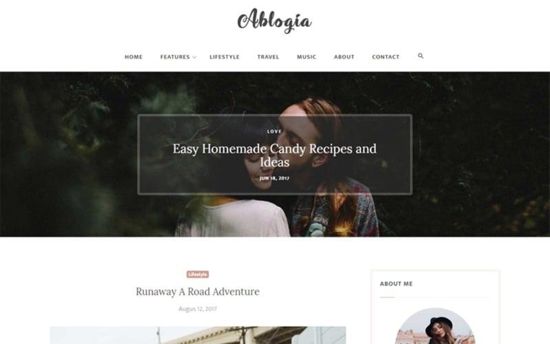 Abloga - HTML5 Blog Website Template