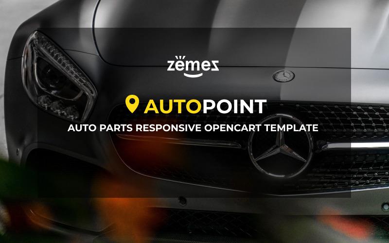 Auf Autoteile reagierende OpenCart-Vorlage