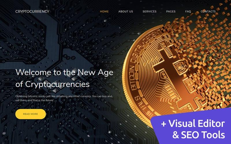 Bitcoin Cryptocurrency Premium Moto CMS 3 Template