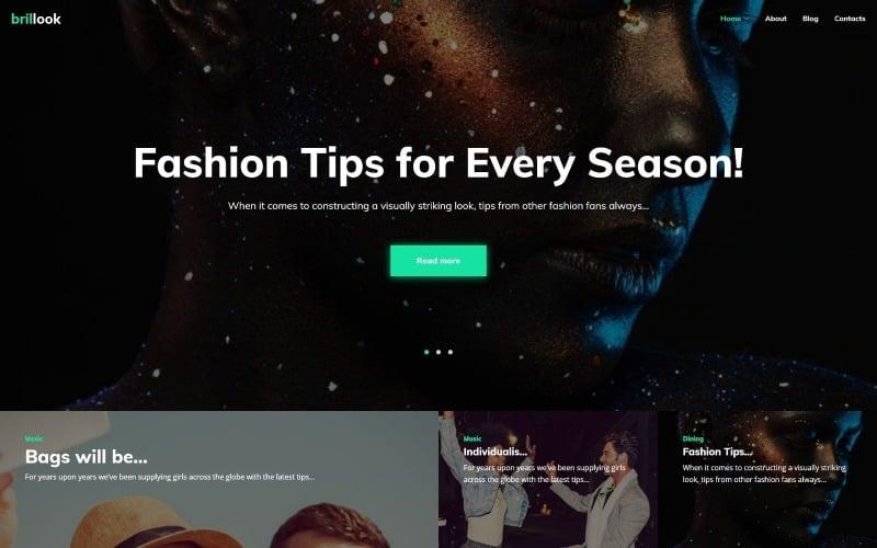 Brillook Lite - Fashion Blog Free WordPress theme